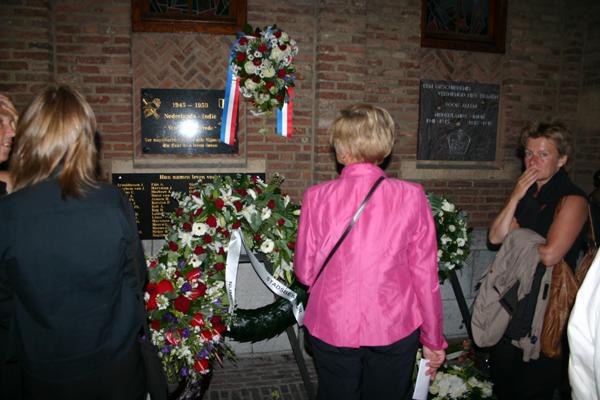 14 augustus 2007. Stadhuis Nijmegen: gedenkstenen voor militaire èn burgerslachtoffers van de oorlog in Azië Foto: H. de la Croix