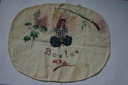 Kussensloop gemaakt in Boeloe-gevangenis (1943) door Geertje Vos Foto: H. de la Croix