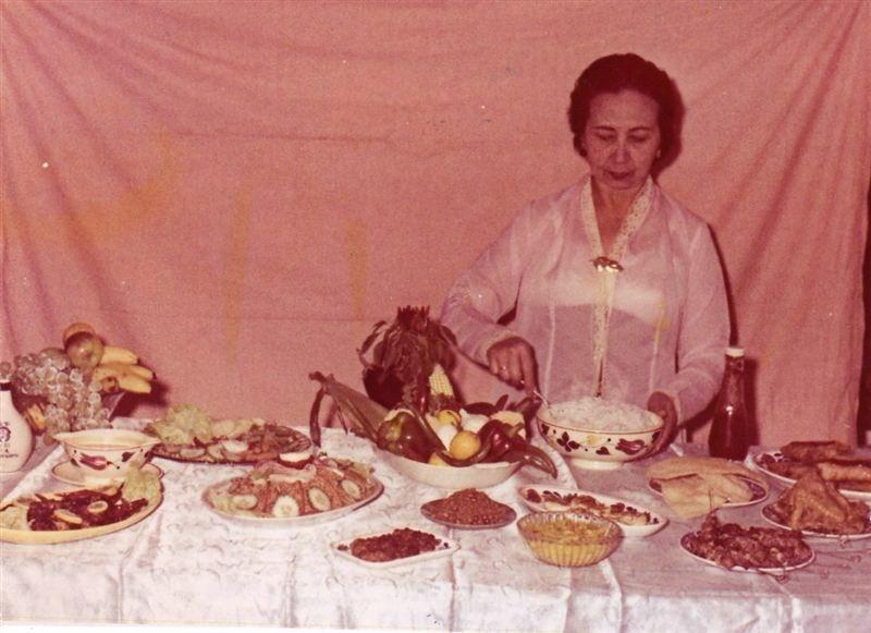 Kookdemonstratie, datum onbekend  Foto: privécollectie familie Brückel
