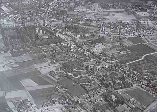 Luchtfoto Gemert in 1950