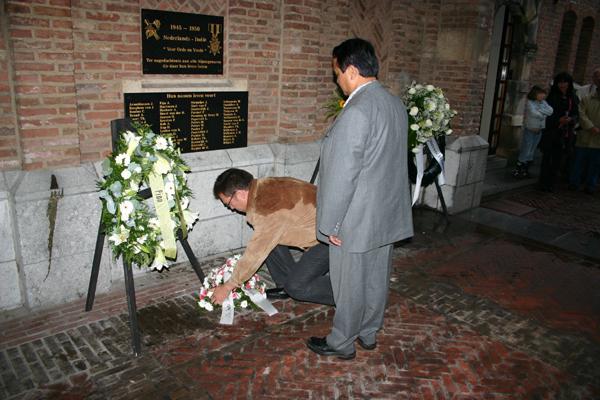 Nijmegen 14 augustus 2006. Eerste herdenking Indische gevallenen in de Tweede Wereldoorlog en in periode 1945-1950  Foto: H. de la Croix