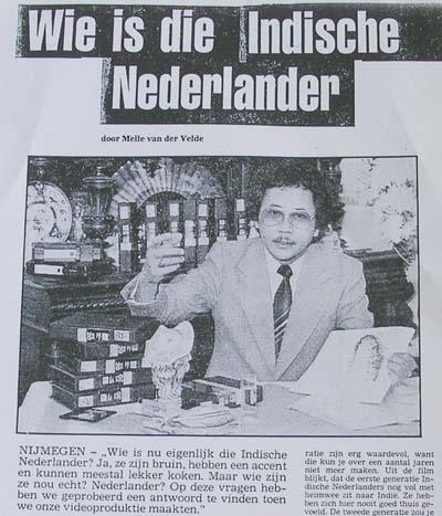Artikel over Nono Wardenaar (Nijmeegse Zondagskrant 1985)