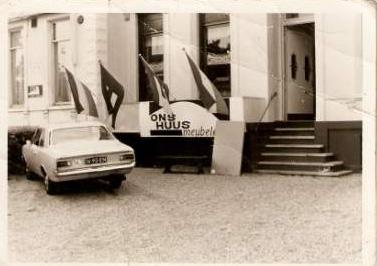Foto: Voorzijde voormalig pension Ons Huus rond 1969  Bron: privécollectie familie Velthuis-Jansen