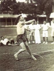 Piet Knape als athleet (medio jaren '30)