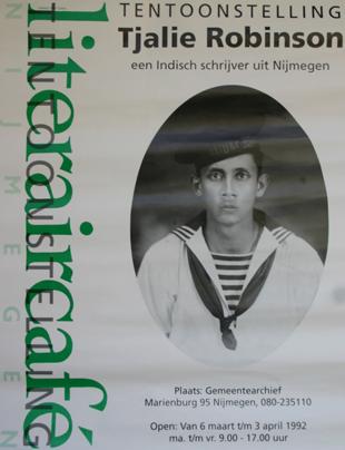Poster Tentoonstelling Tjalie als Nijmeegs schrijver (1992)