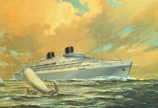 De Willem Ruys (geschilderd: varend in Indonesische wateren)