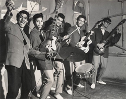 De Crazy Rockers begin jaren zestig.  Bron foto: Woody Brunings