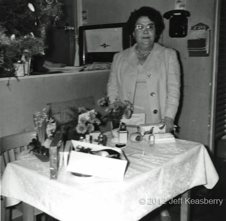 Jeff Keasberry's grandmother: Christmas time in her restaurant Djokja  Photo: private collection Keasberry