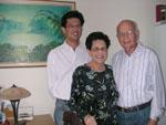 Het echtpaar Kayser met hun zoon Robin (1960) in 2006