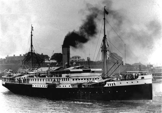 Harukiku Maru / Van Waerwijck. Op 26 juni 1944 om 14:00 uur werd het schip, dicht onder de kust varend, door twee torpedo's van de Britse onderzeeboot HMS Truculent tot zinken gebracht