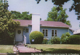 Het huis van het gezin Van Halen in de Las Lunas Street Pasadena (Ca) Bron foto: Halen.com