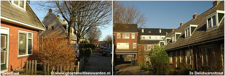 De Delistraat en de 2e Delidwarstraat in Leeuwarden  Bron: website www.groetenuitleeuwarden.nl