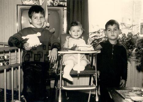De kinderen Hans, Anne-Marie en Arthur, medio jaren zestig