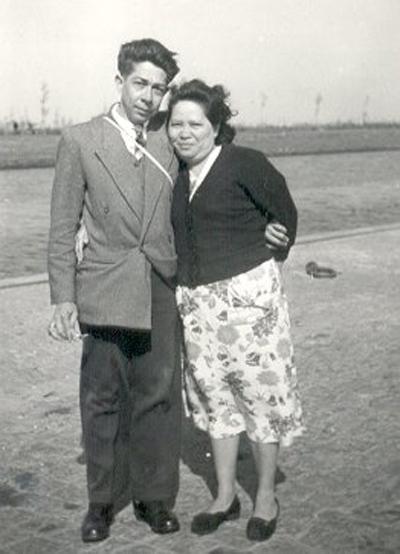 Ben en Tine van Raemdonck -Dumas, Groningen 1954
