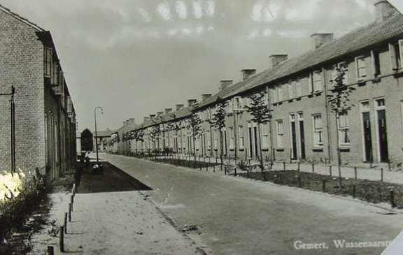 Gemert: de Wassenaarstraat,  typische jaren vijftig sociale woningbouw