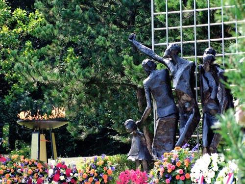 Gedeelte van het Indisch herdenkingsmonumentin Den Haag