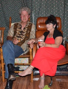 Gijs Axe and Henny Neys, generous hosts of the Amerindos' kumpulan at their residence in Walnut Creek