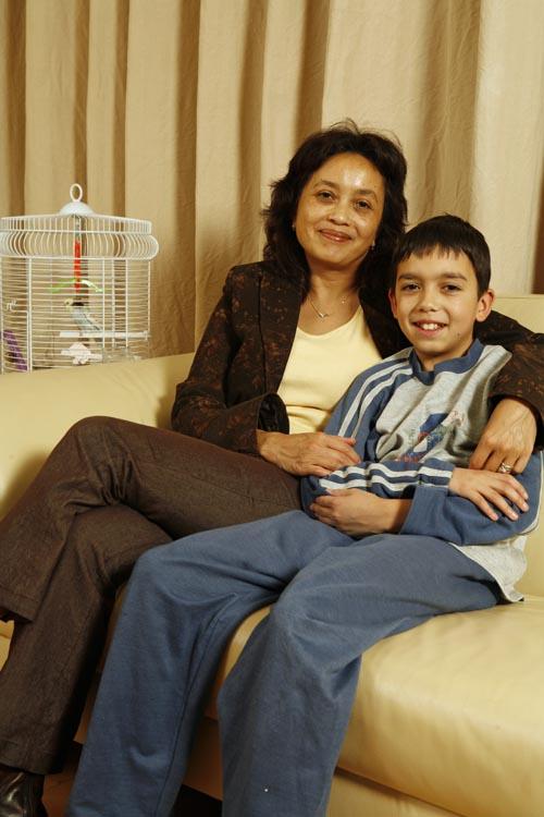 Saskia Rossi en haar zoon Foto: Wilma Manders