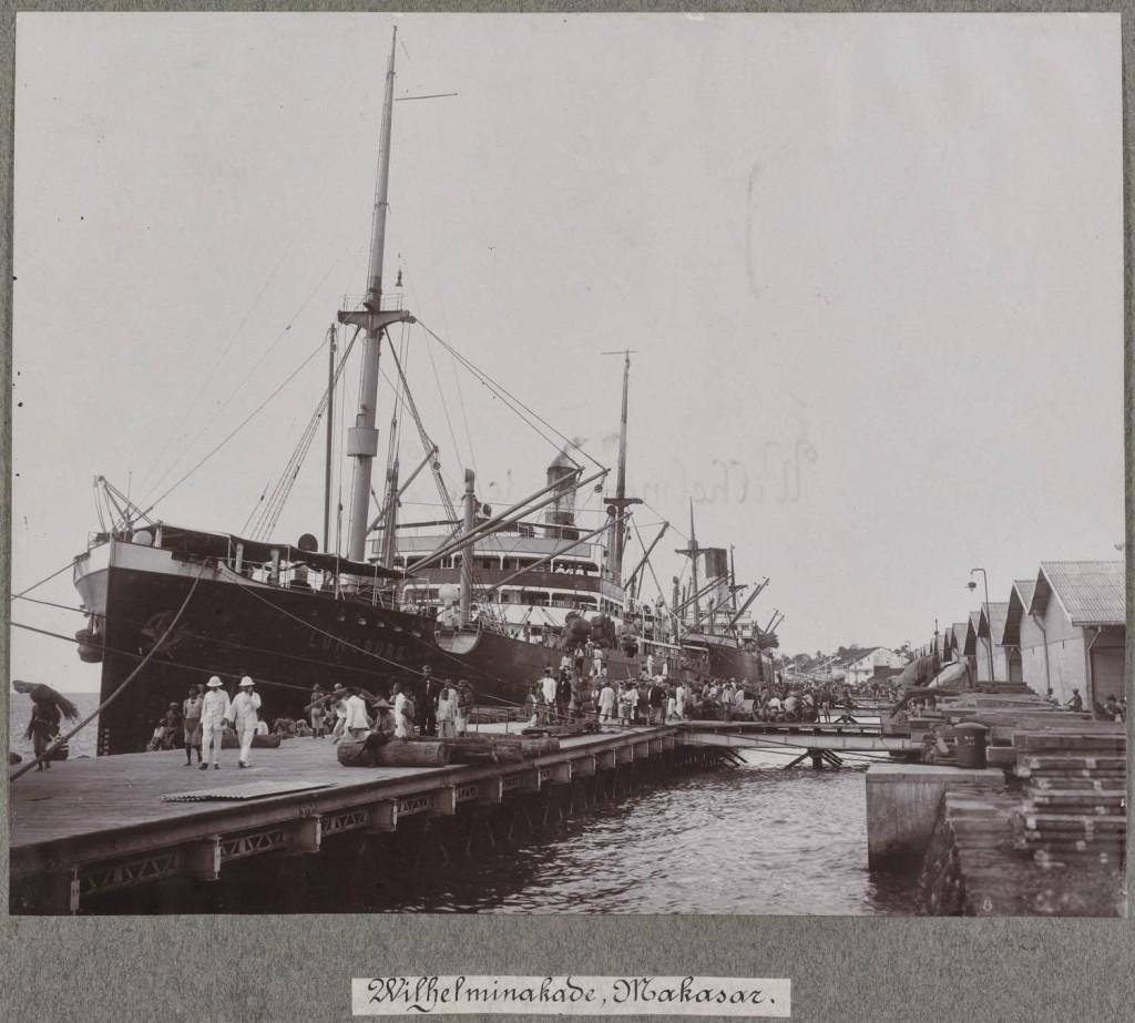 Wilhelminakade in Makassar 1918
